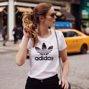 Adidas White & Black Logo T-Shirt